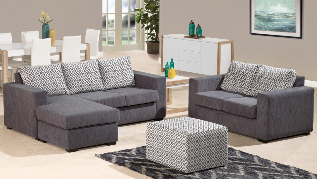 Manhattan 3 Seater Chaise With 2 Seater Plus Ottoman