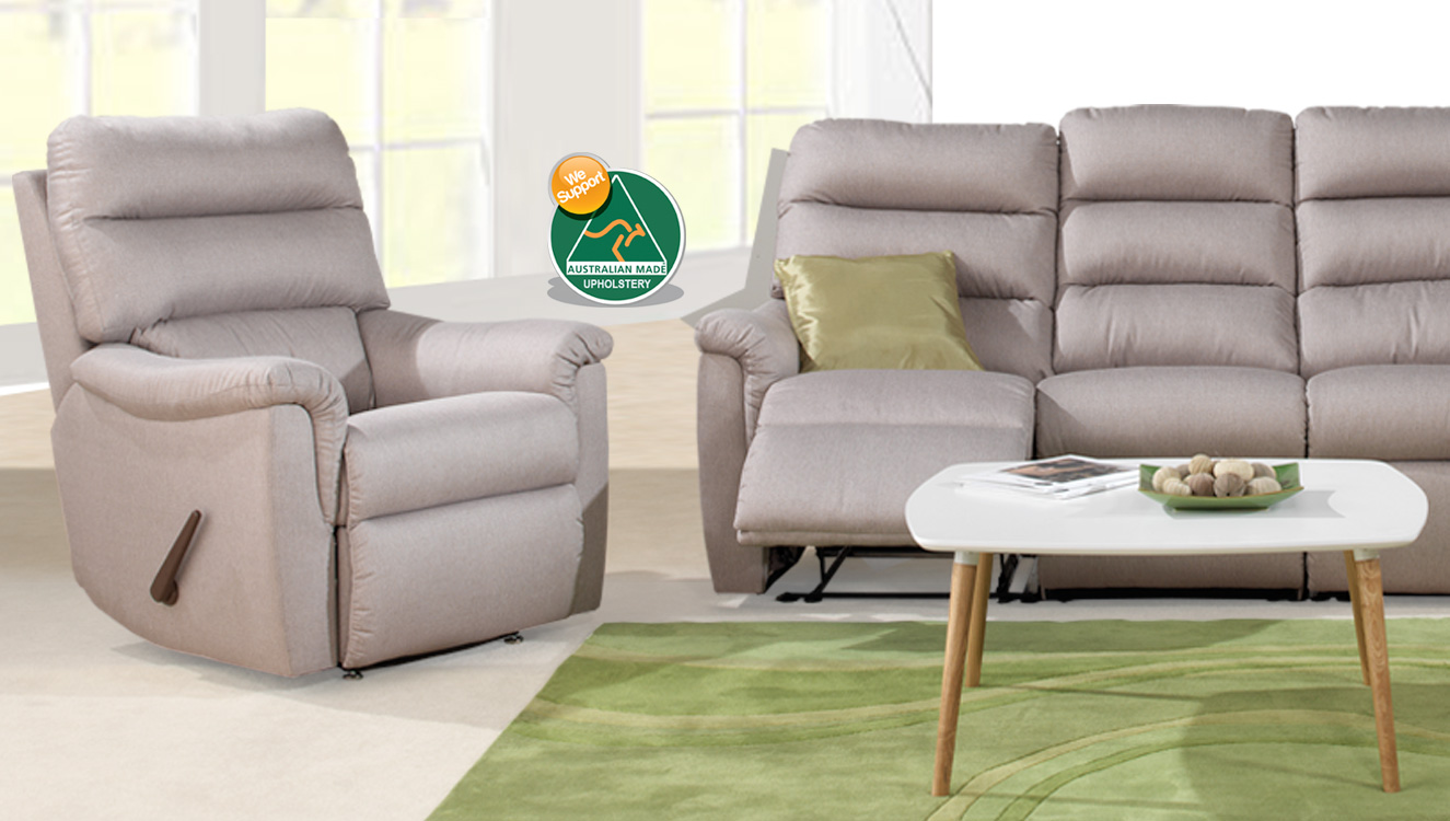 TURIN 3 Seater Fabric Recliner Suite AUSTRALIAN MADE & Australiau0027s Best Value Living Room Furniture and Lounge Suites islam-shia.org